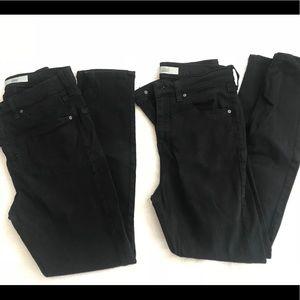 2 pairs of Topshop Jamie jeans
